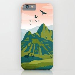 Machu Picchu Illustration by Cindy Rose Studio iPhone Case
