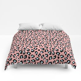 Leopard Print - Icy Peach Comforters