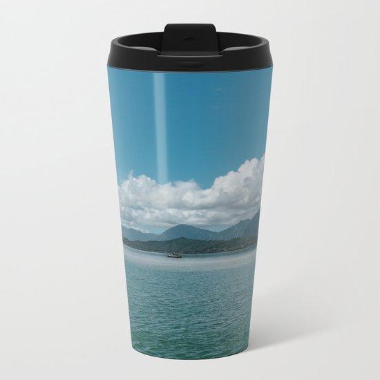 Hawaiian View Metal Travel Mug
