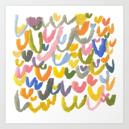 Abstract Letterforms 1 Art Print