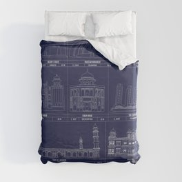 The Architecture of Pakistan Duvet Cover