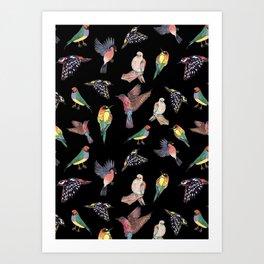 La guajira, black Art Print