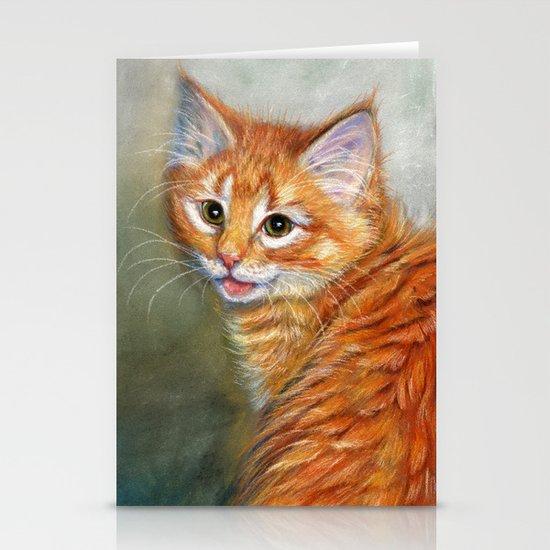 Ginger Kitten 1 Stationery Cards