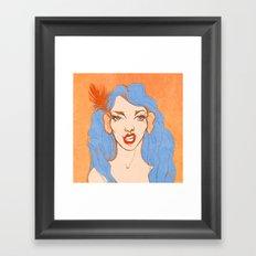 selfie girl_2 Framed Art Print