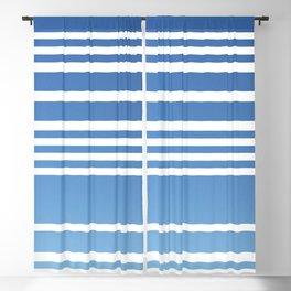 Blue Ombre Modern Stripes Blackout Curtain