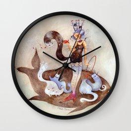 Poaia, dresseuse de chats Wall Clock