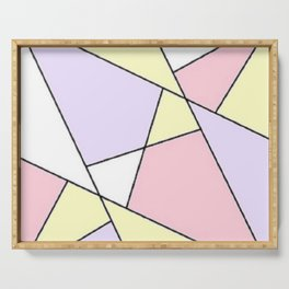 Geometric Pattern Serving Tray