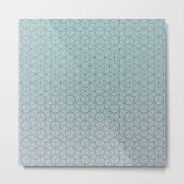 Tessellation - Culture Clash - Polytone Teal / Indigo Metal Print