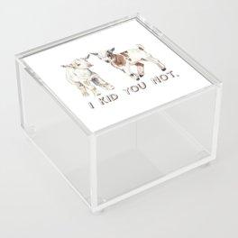I Kid You Not: Baby Goat Watercolor Illustration Acrylic Box