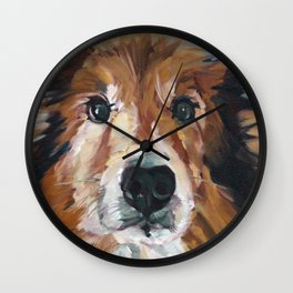 The Collie Sparky Wall Clock