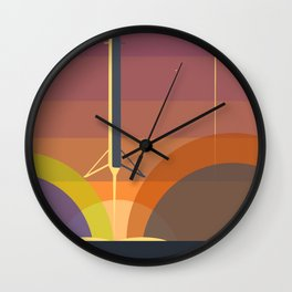 Falcon 9 Launch minimalist  Wall Clock
