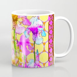 FUCHSIA-YELLOW IRIS GARDEN DESIGNS Coffee Mug