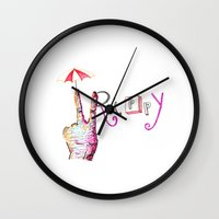 trippy Wall Clocks featuring Trippy by AudArt
