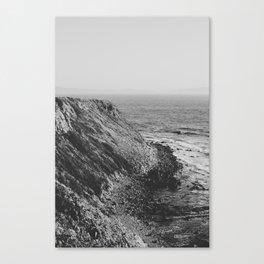 Point Vicente - California Coast - Black & White Version Canvas Print