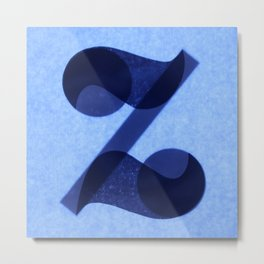 100 Days of Hybrid Type: Letter Z Metal Print