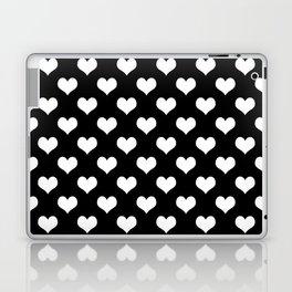 Black White Hearts Minimalist Laptop & iPad Skin