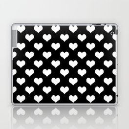 Black White Hearts Minimalist Laptop & iPad Skin