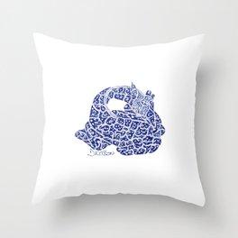 Dormiens Zarafah: The Sleeping Giraffe Throw Pillow