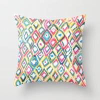 ikat Throw Pillows featuring IKAT by  Ray Athi