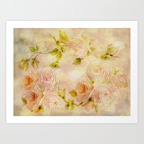 Pink Rose Fantasy Art Print