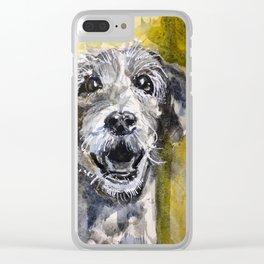 Scruffy Clear iPhone Case