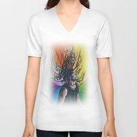reggae V-neck T-shirts featuring Reggae by Halinka H