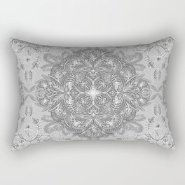 Vintage Winter Monochrome Doodle Rectangular Pillow
