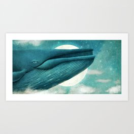 Dream of the Blue Whale Art Print
