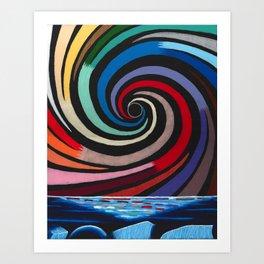 Rainbow Waterspout 2 Art Print
