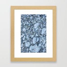 Blue textured granite rock Framed Art Print