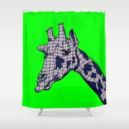Argyle Giraffe Shower Curtain
