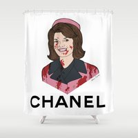 jfk Shower Curtains featuring Jackie O  by Steven Crissey