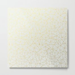 Geo Gold Metal Print
