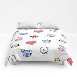 BT21 Sketched Pattern Comforters