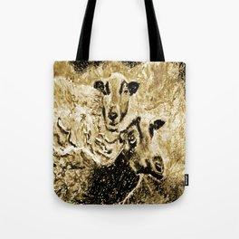 Two Ewes at Sunset Vintage Look Tote Bag