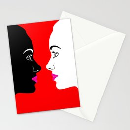 Face Me Women in Friendship and Fashion Stationery Cards