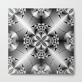 Geometric damask Metal Print