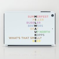 milwaukee iPad Cases featuring The Words of Milwaukee by tinyconglomerate