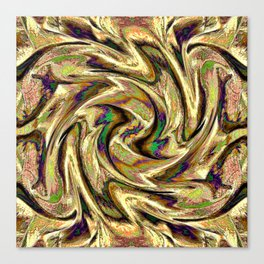 Gold Brown  Rotation Motaion Background Abstact Canvas Print