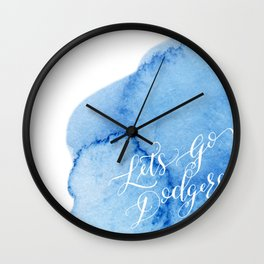 Let's Go Dodgers Wall Clock