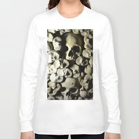 skulls Long Sleeve T-shirts featuring skulls by SINPE