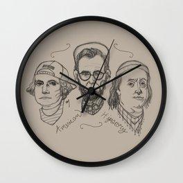 American Hipstory Wall Clock