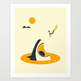 DEEP DIVE Art Print