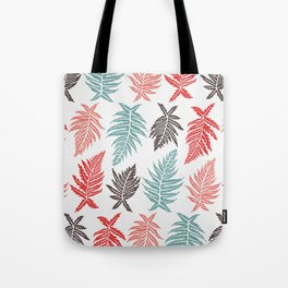Inked Ferns – Red & Green Palette Tote Bag