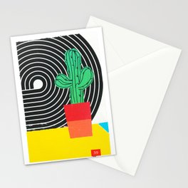 Colorblock Cactus Stationery Cards