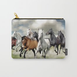 8 Horses Running Carry-All Pouch