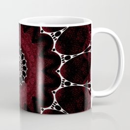 Deep Ruby Red Mandala Design Coffee Mug