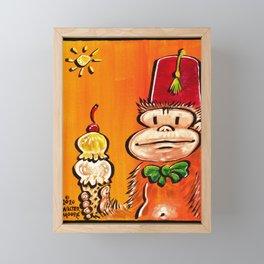 Ice Cream Fez Ape. Framed Mini Art Print