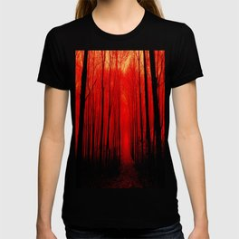 Misty Red Forest T-shirt