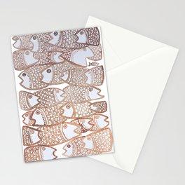 Peixinho sepia Stationery Cards